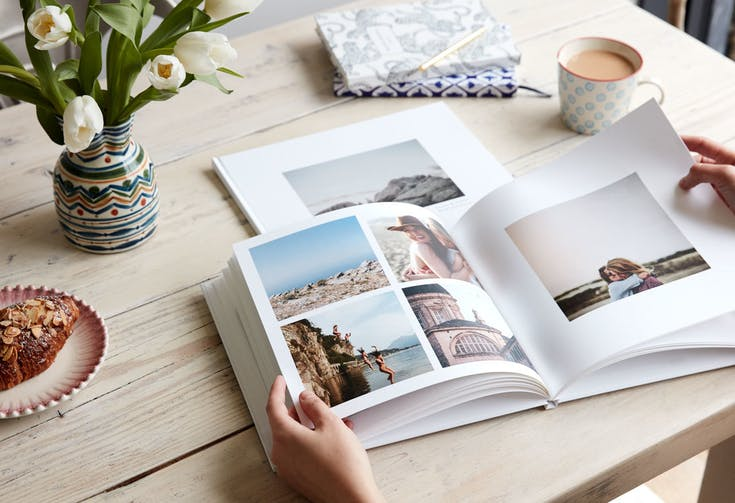 Customize a book with all your photographs